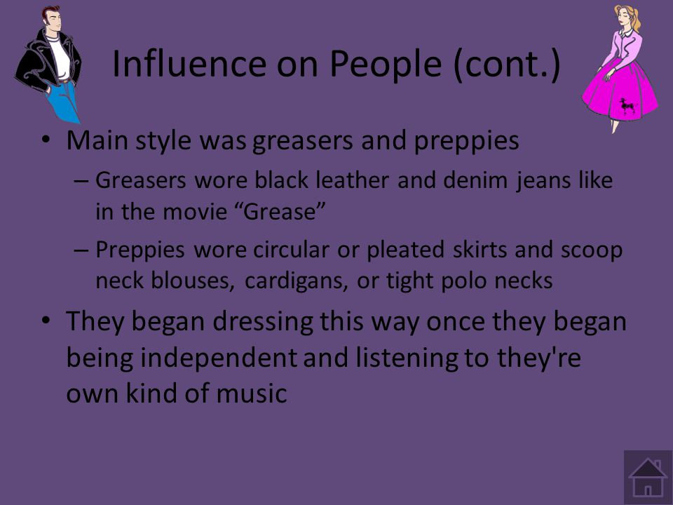 Influence on People (cont.)
