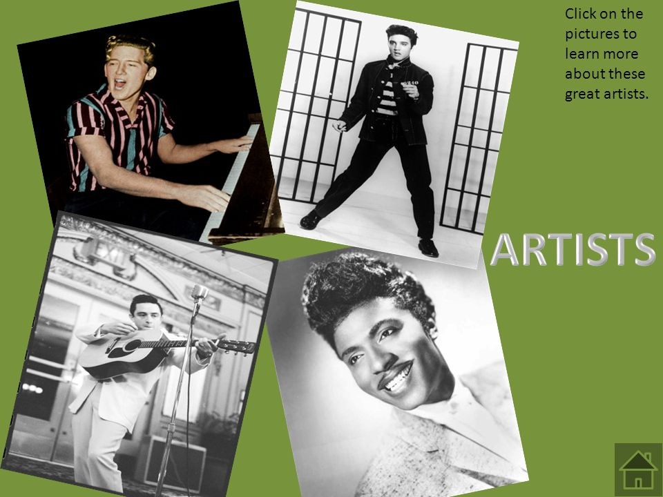 Click on the pictures to learn more about these great artists.