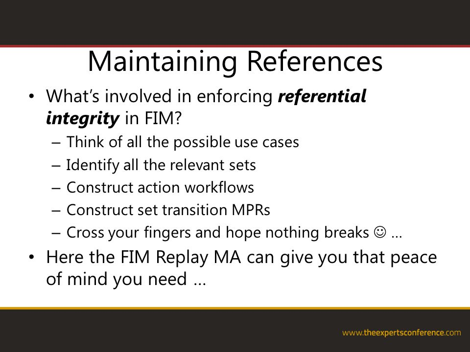 Maintaining References