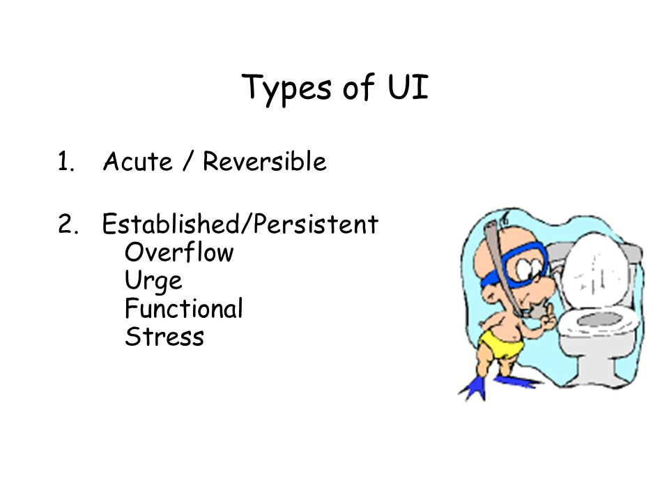 Types of UI Acute / Reversible