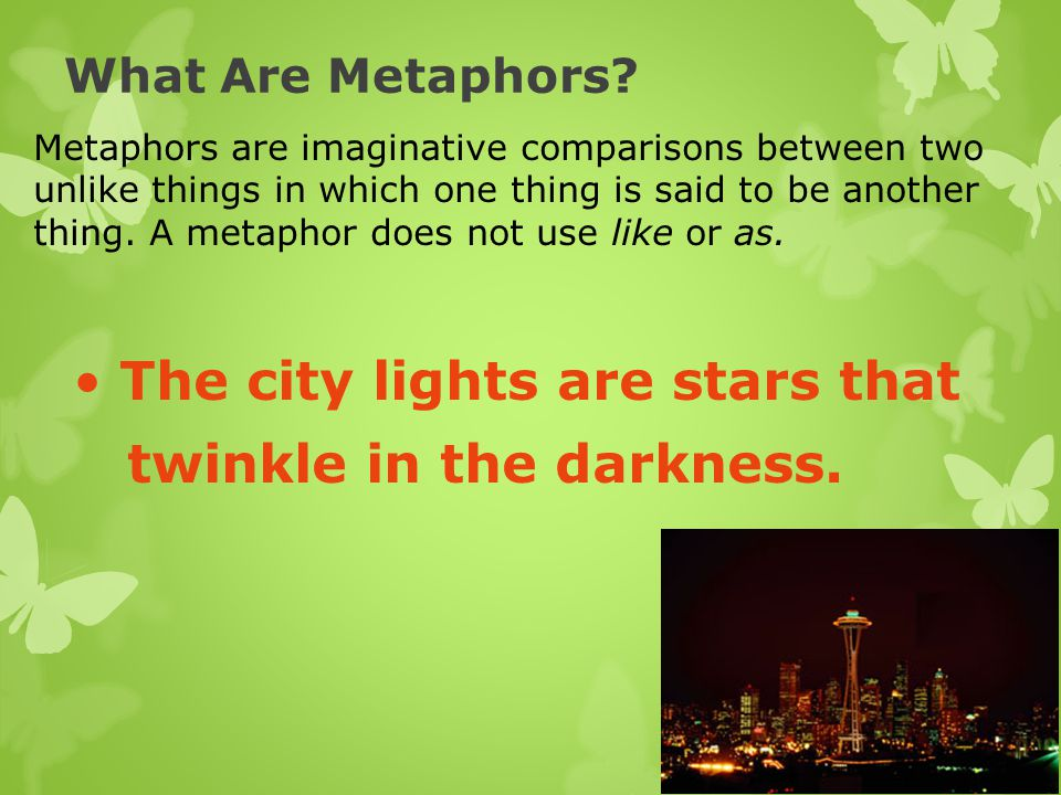 The city lights are stars that twinkle in the darkness.