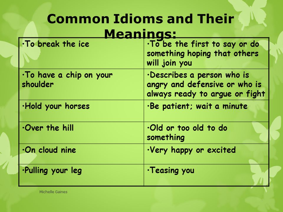 idioms examples and meanings - photo #29