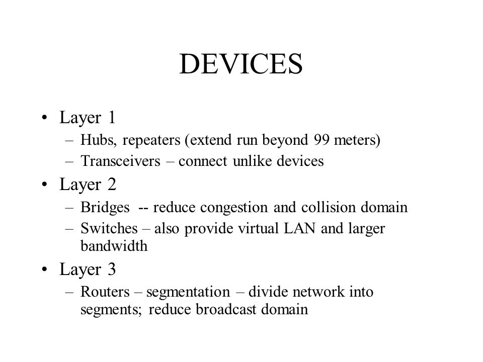 DEVICES Layer 1 Layer 2 Layer 3