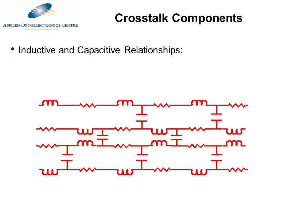 Crosstalk Components Inductive and Capacitive Relationships: