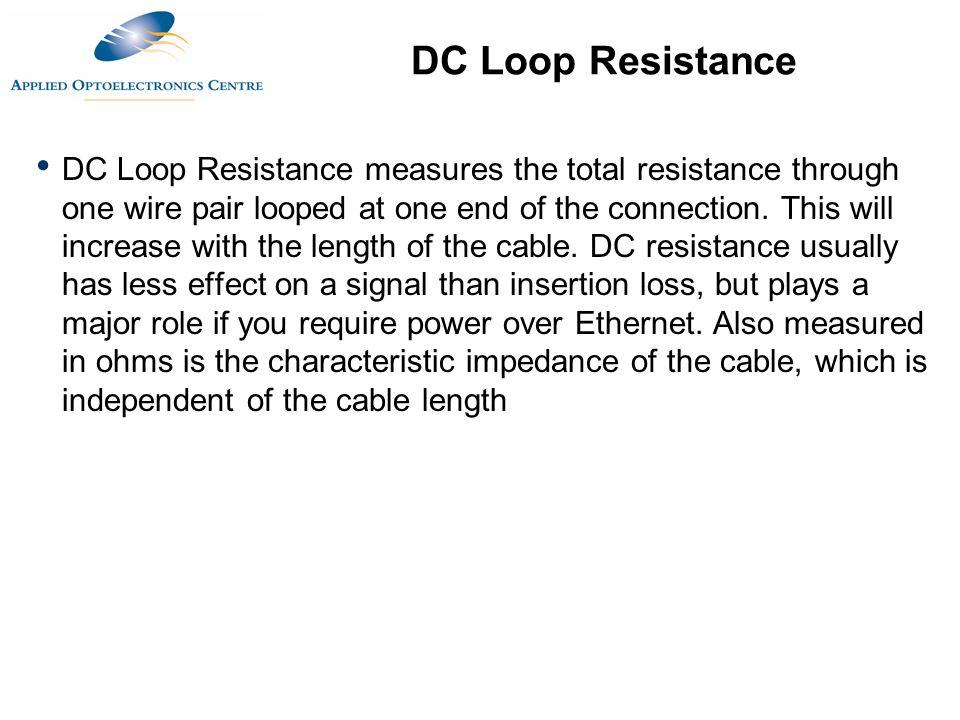 DC Loop Resistance
