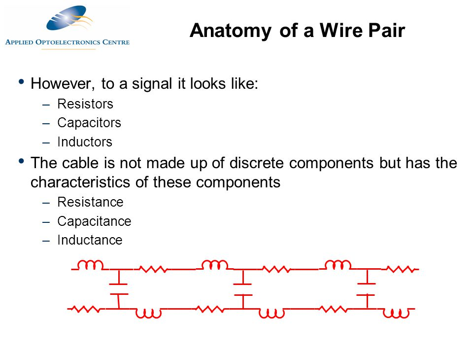 Anatomy of a Wire Pair However, to a signal it looks like: