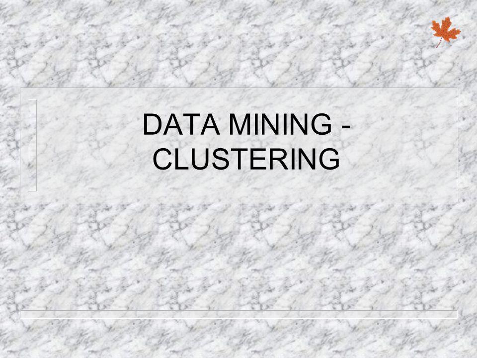 DATA MINING - CLUSTERING