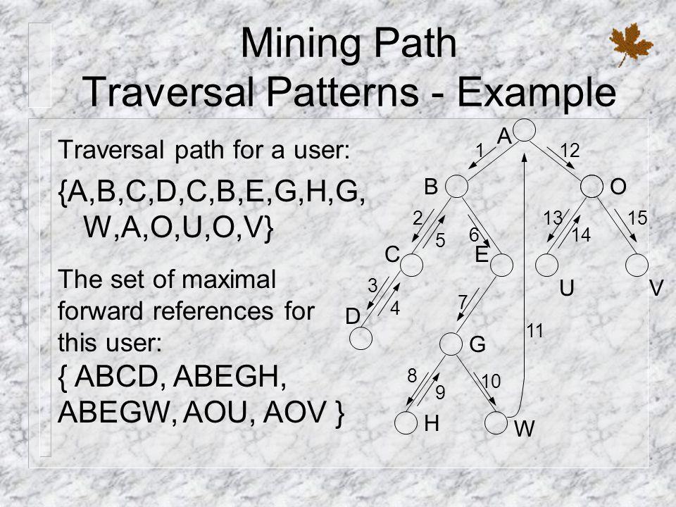 Mining Path Traversal Patterns - Example