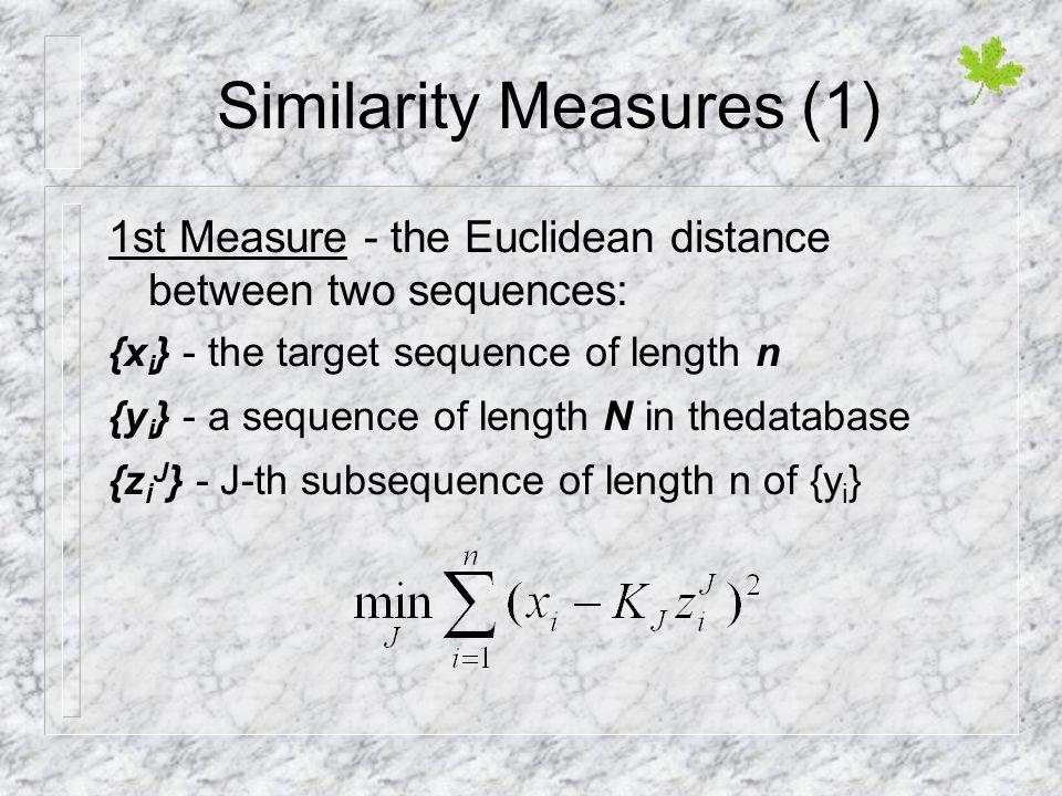 Similarity Measures (1)
