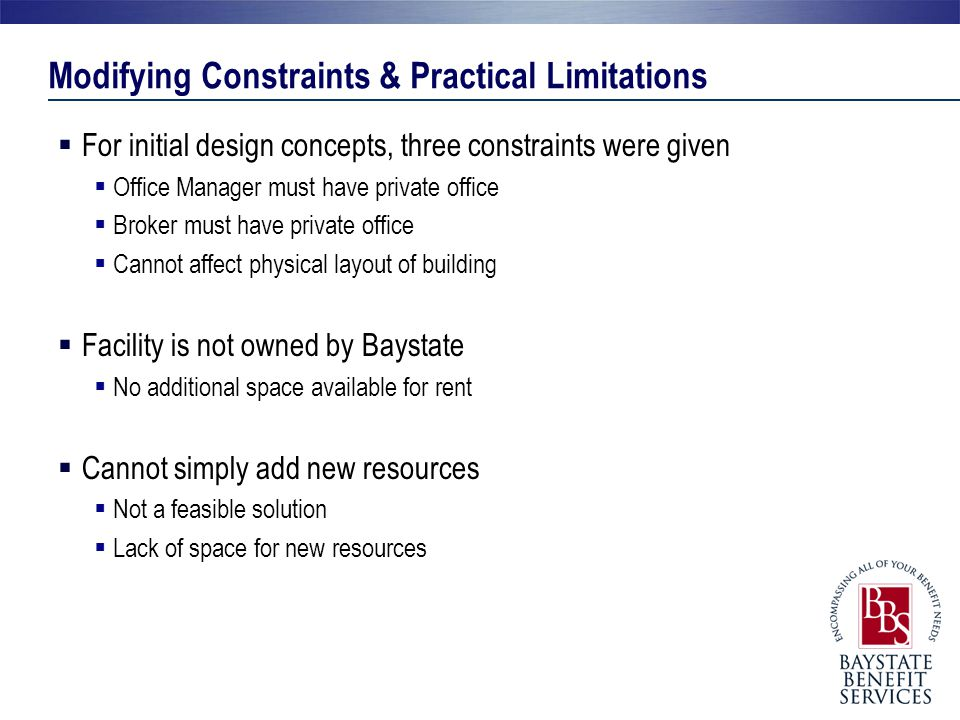 Modifying Constraints & Practical Limitations