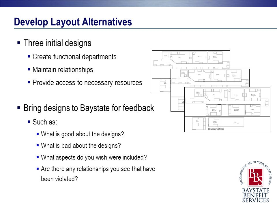 Develop Layout Alternatives