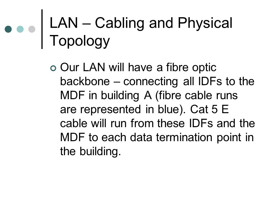 LAN – Cabling and Physical Topology