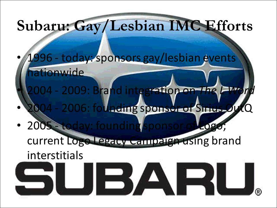 Subaru: Gay/Lesbian IMC Efforts