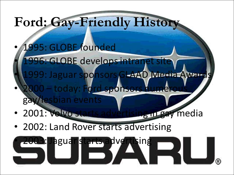 Ford: Gay-Friendly History