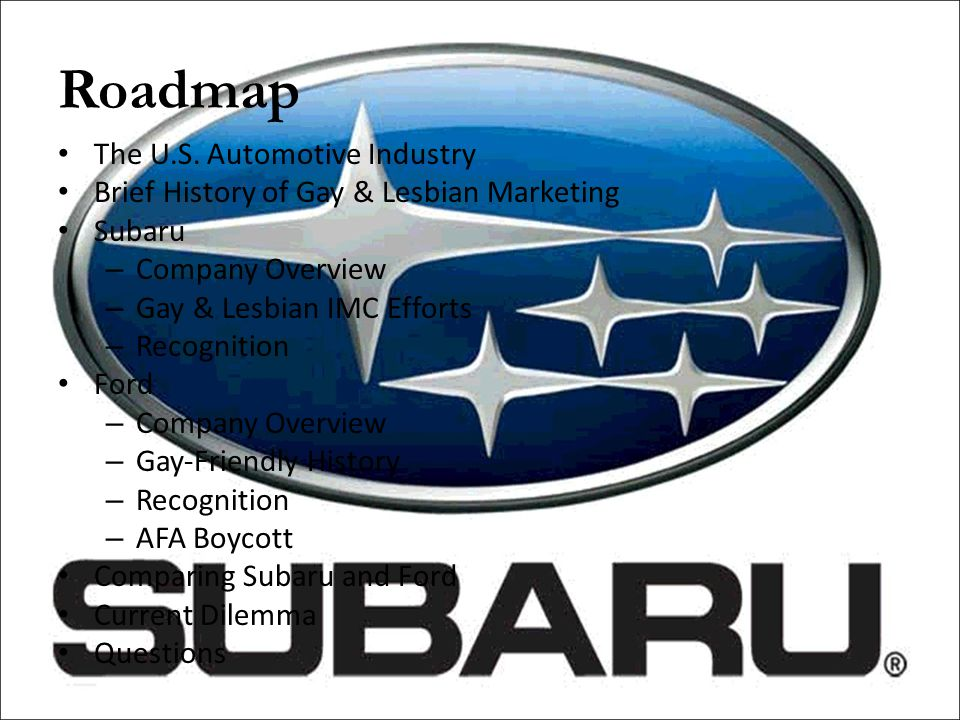 Roadmap The U.S. Automotive Industry