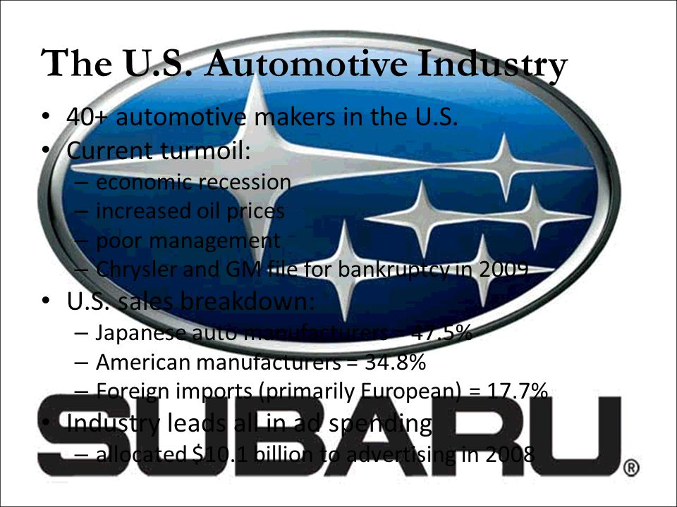 The U.S. Automotive Industry
