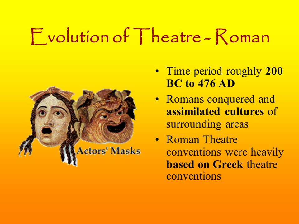 Evolution of Theatre - Roman