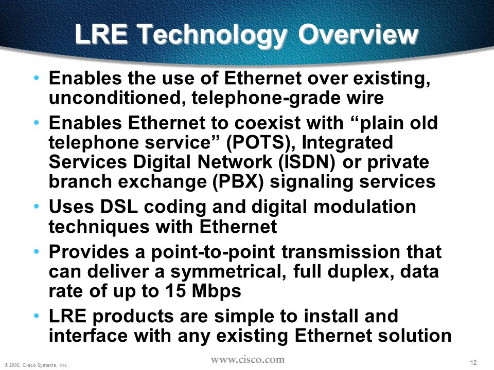 LRE Technology Overview
