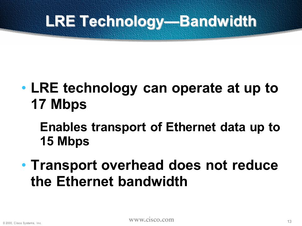 LRE Technology—Bandwidth