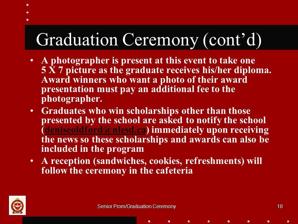 Graduation Ceremony (cont'd)