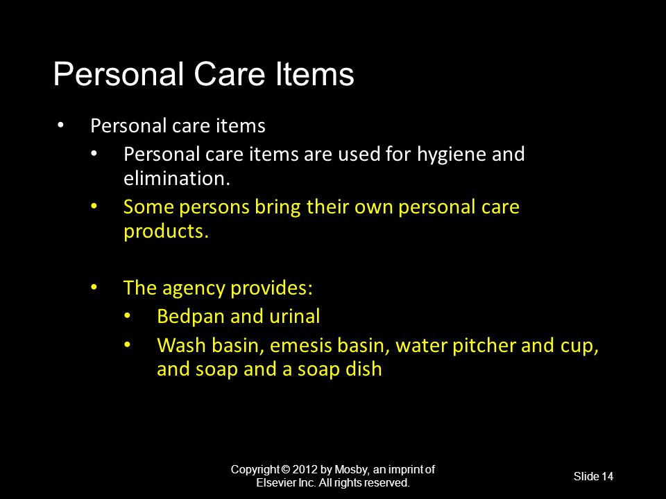 Personal Care Items Personal care items