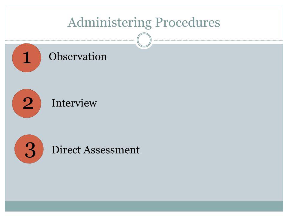 Administering Procedures