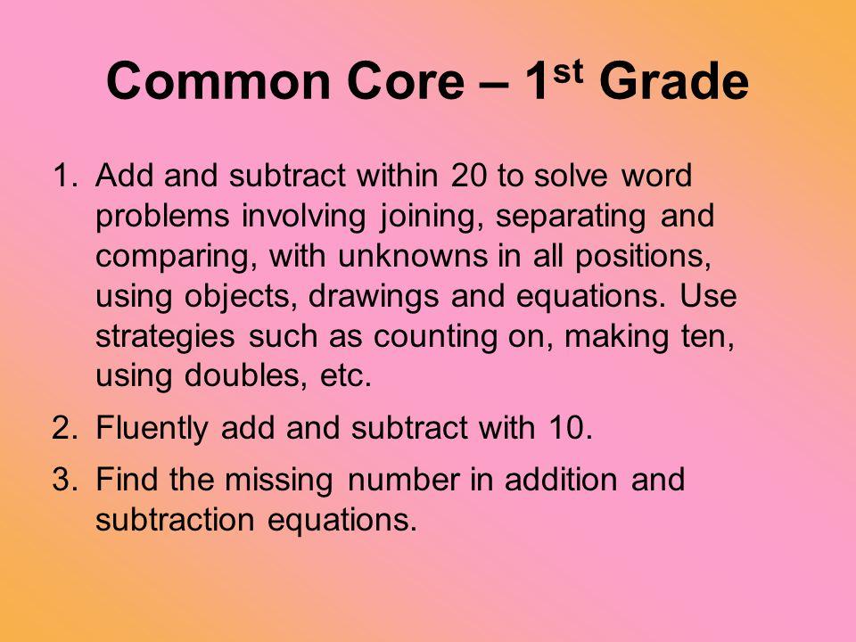 Common Core – 1st Grade