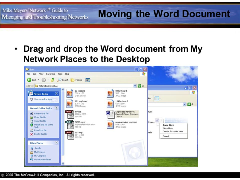 Moving the Word Document