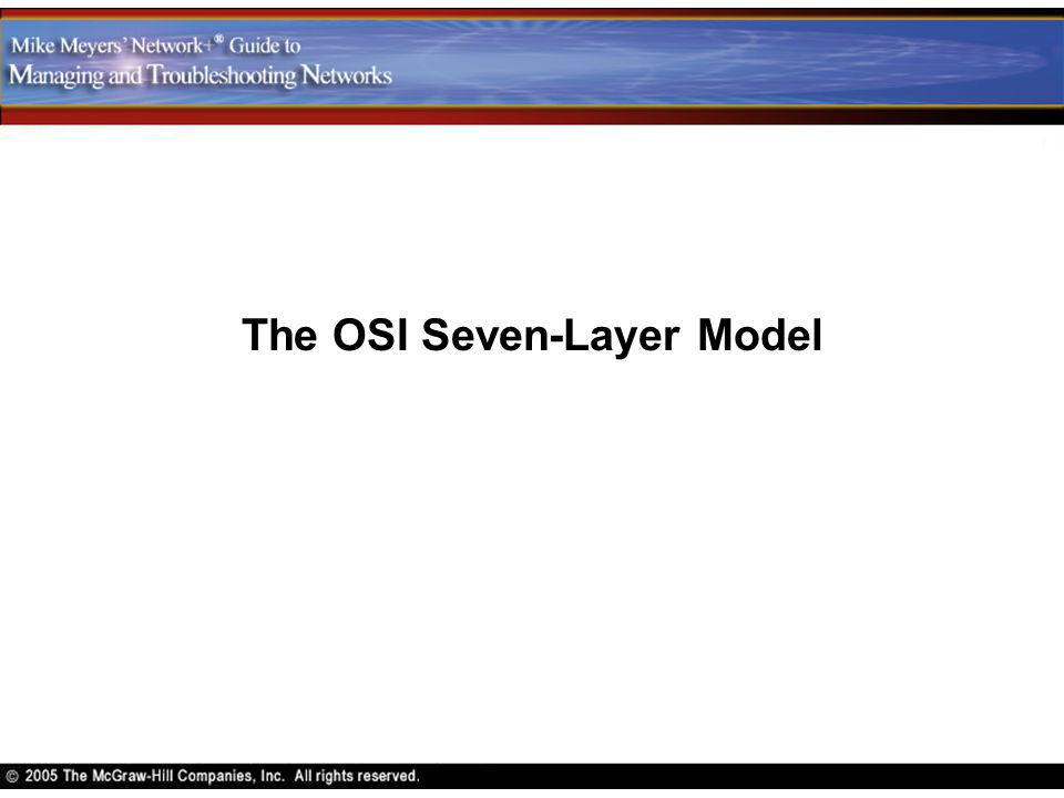 The OSI Seven-Layer Model