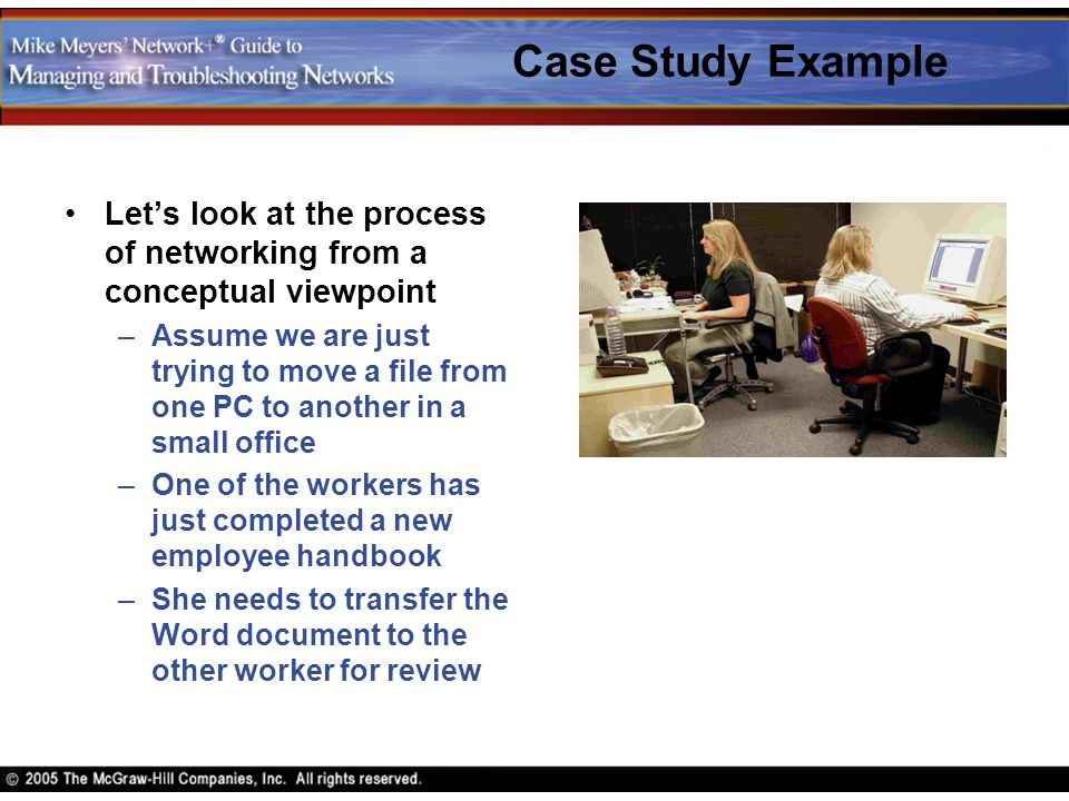 Case Study Example Let's look at the process of networking from a conceptual viewpoint.