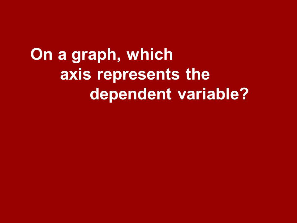 On a graph, which axis represents the dependent variable
