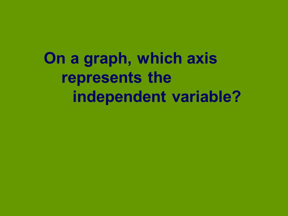 On a graph, which axis represents the independent variable