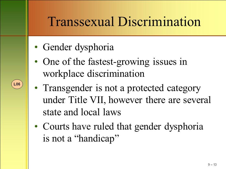 Transsexual Discrimination