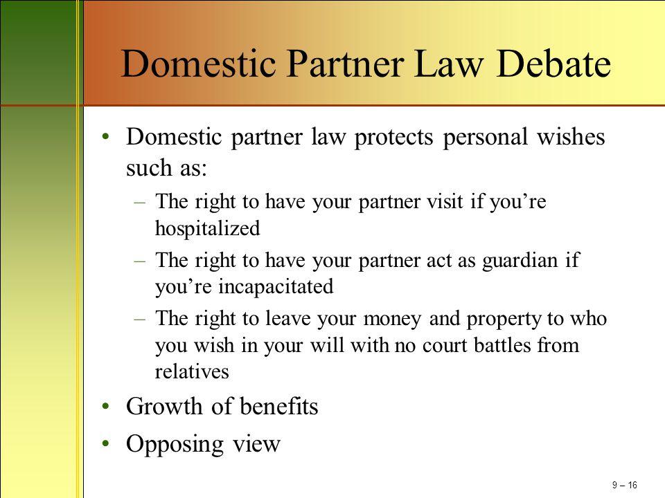 Domestic Partner Law Debate