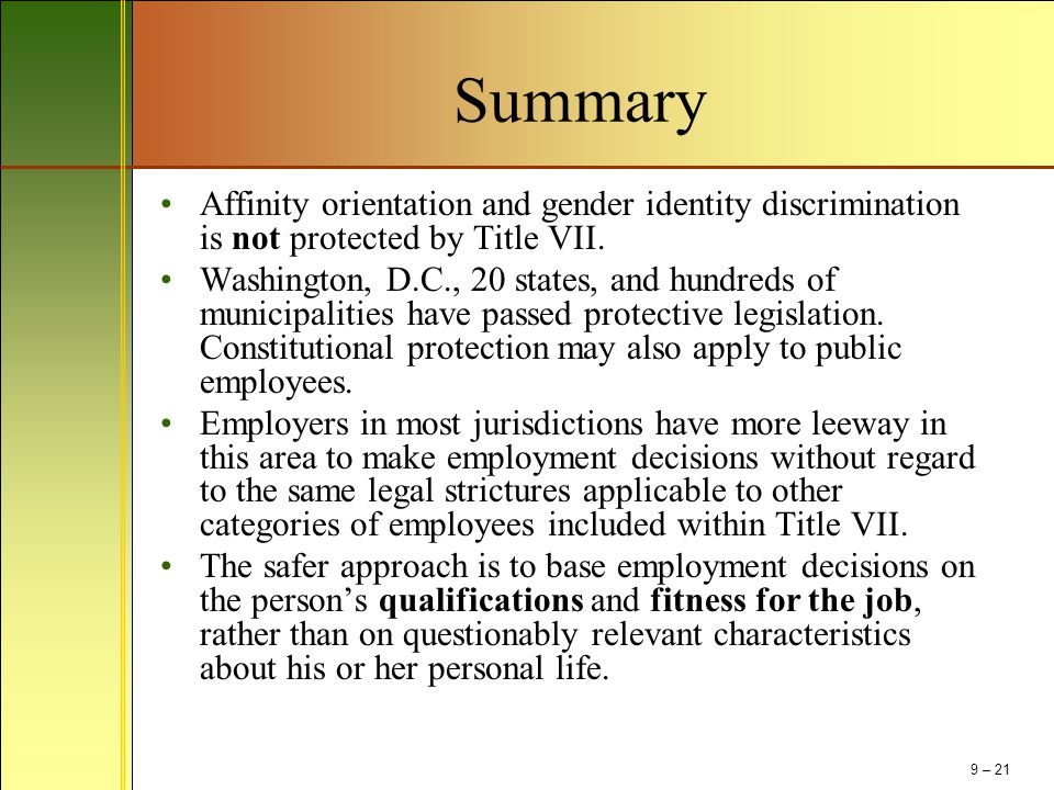 discrimination based on sexual orientation presentation Browse 2017, discrimination and presentation content selected by the human resources today community  ruling on february 26 that discrimination based on sexual.