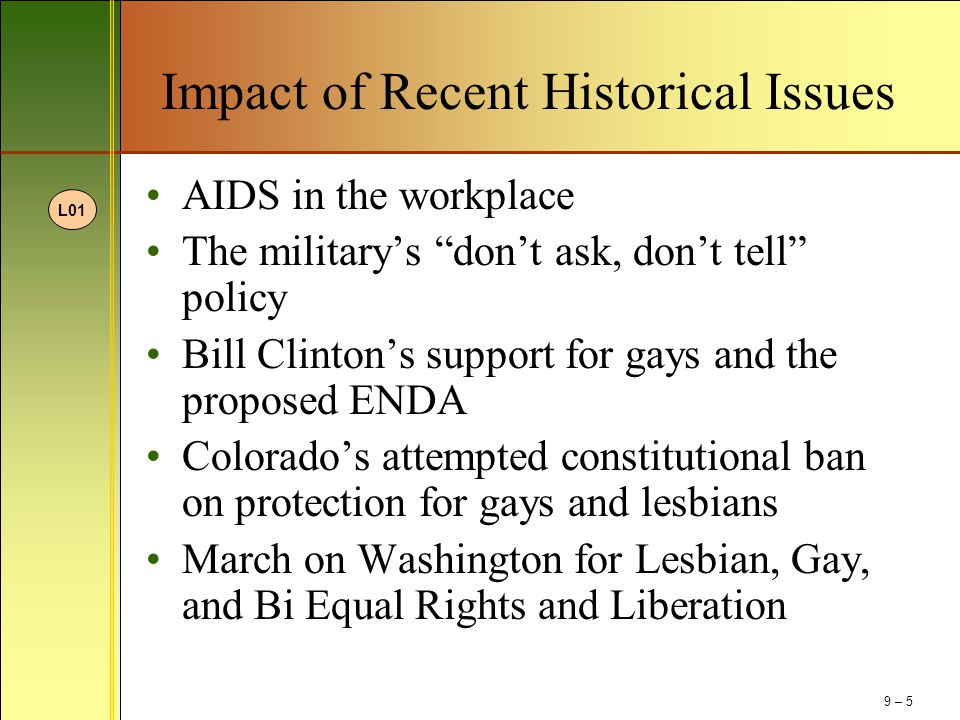 Impact of Recent Historical Issues