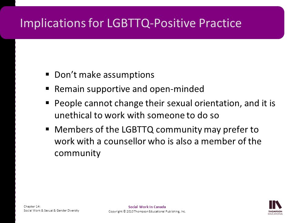 Implications for LGBTTQ-Positive Practice