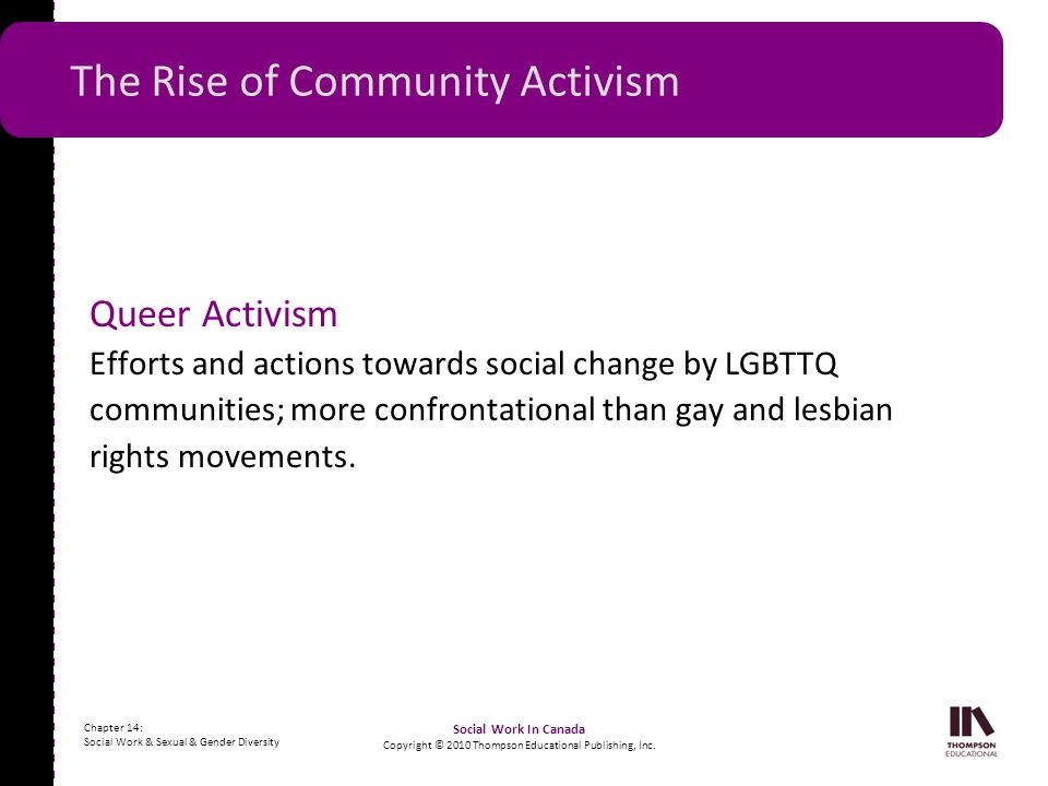 The Rise of Community Activism