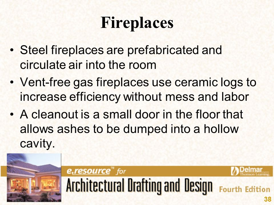 Fireplaces Steel fireplaces are prefabricated and circulate air into the room.