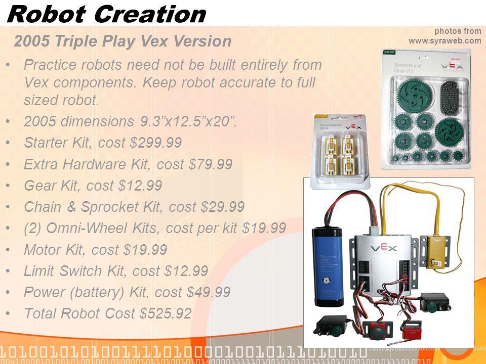 Robot Creation 2005 Triple Play Vex Version
