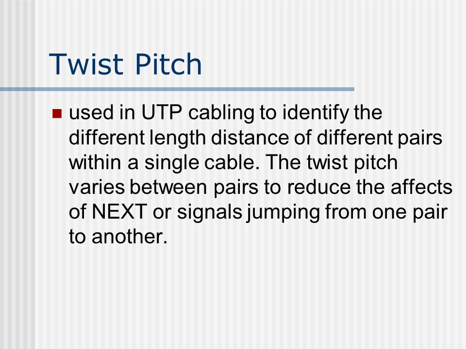 Twist Pitch