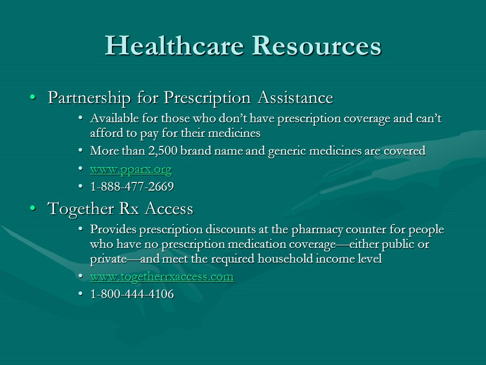 Healthcare Resources Partnership for Prescription Assistance