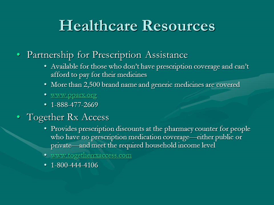 Healthcare Resources Partnership for Prescription Assistance