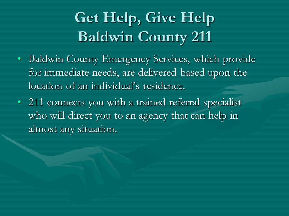 Get Help, Give Help Baldwin County 211