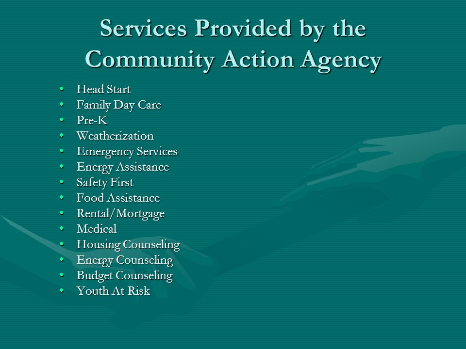 Services Provided by the Community Action Agency