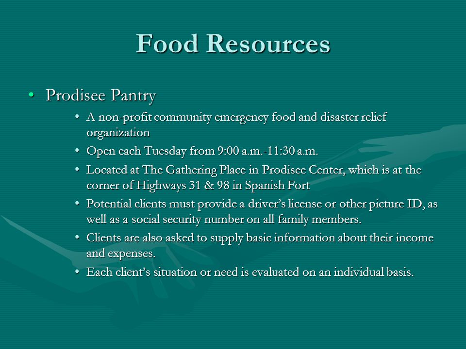 Food Resources Prodisee Pantry