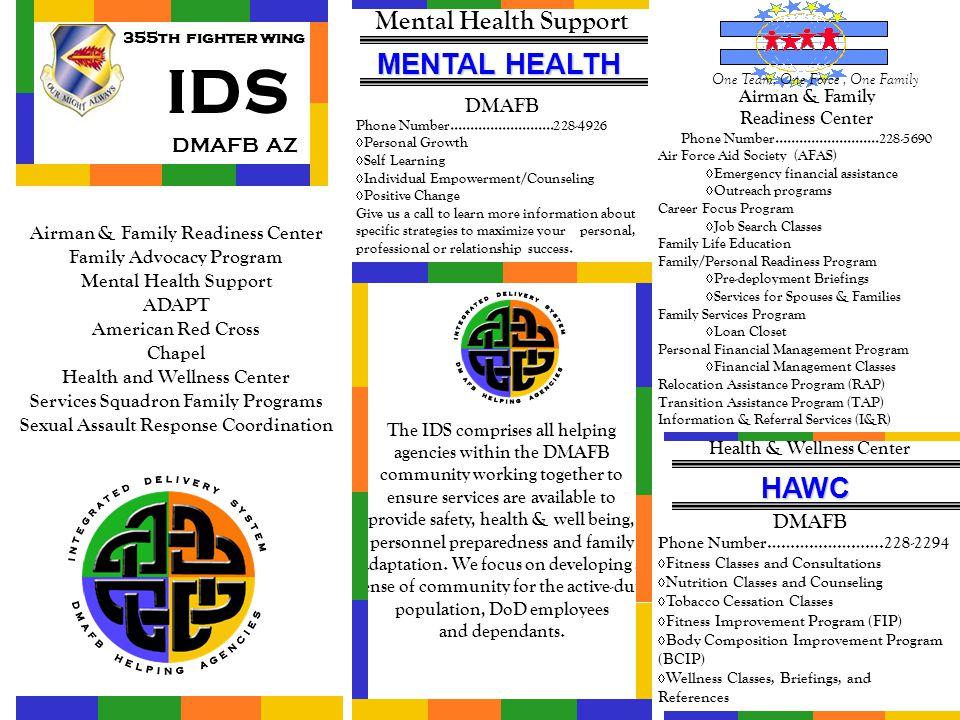 IDS MENTAL HEALTH HAWC Mental Health Support DMAFB AZ DMAFB DMAFB