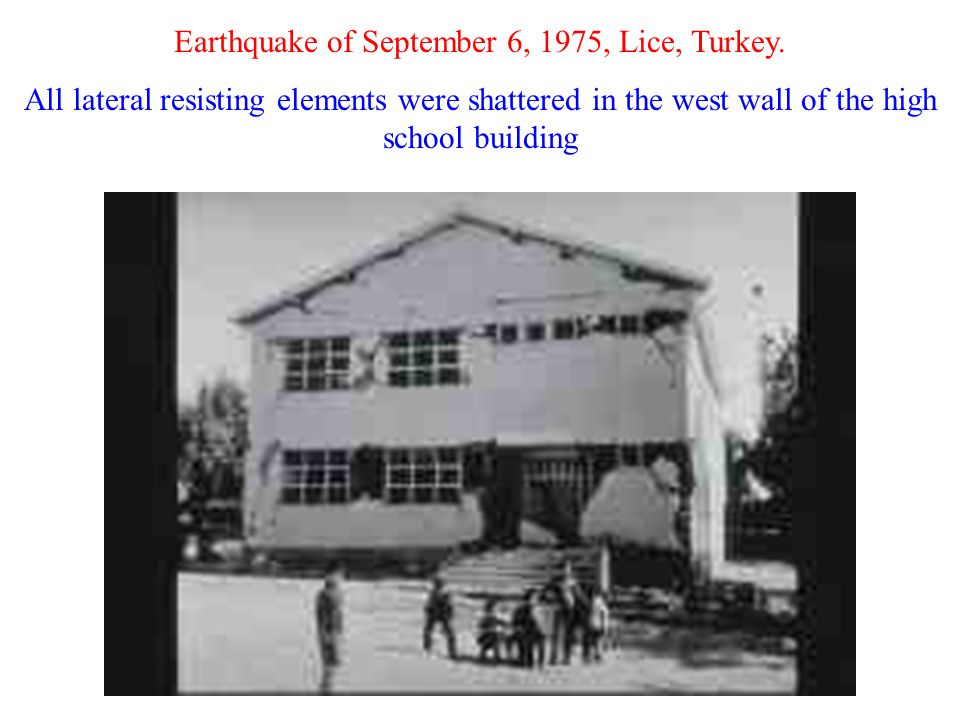 Earthquake of September 6, 1975, Lice, Turkey.