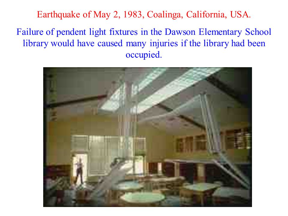 Earthquake of May 2, 1983, Coalinga, California, USA.
