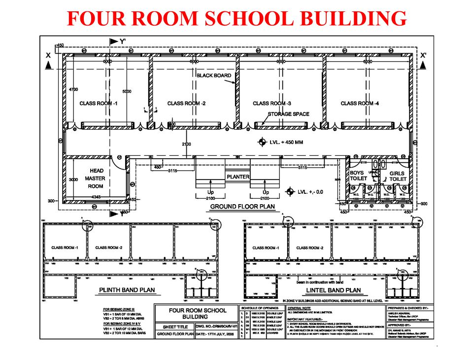 FOUR ROOM SCHOOL BUILDING